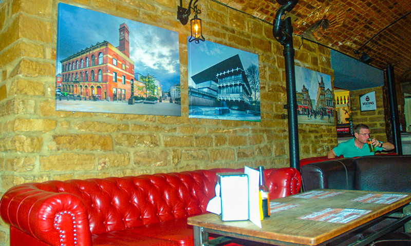 Inside Decor of the Aire Bar