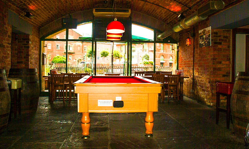 Pool Table Area at the Aire Bar